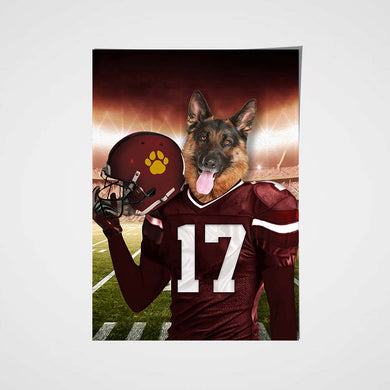 Washington Football Team Custom Poster Pet Portrait - Noble Pawtrait