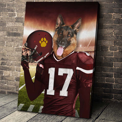 Washington Football Team Custom Canvas Pet Portrait - Noble Pawtrait