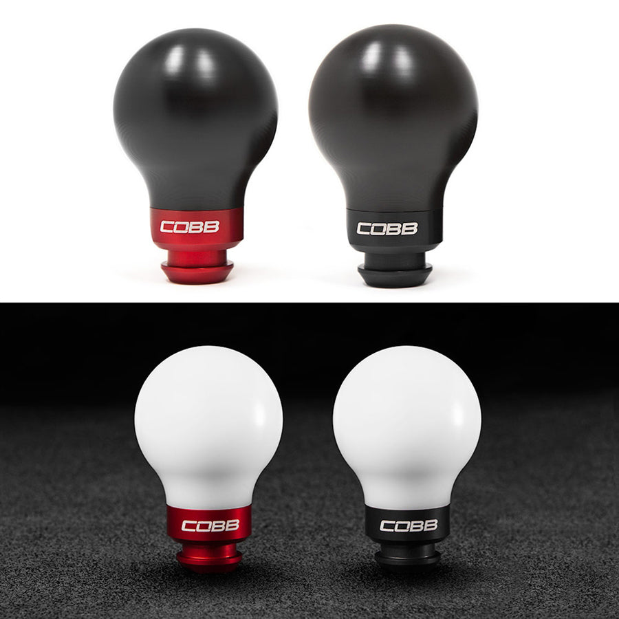 Subaru 5-Speed COBB Knob - White w/ Race Red