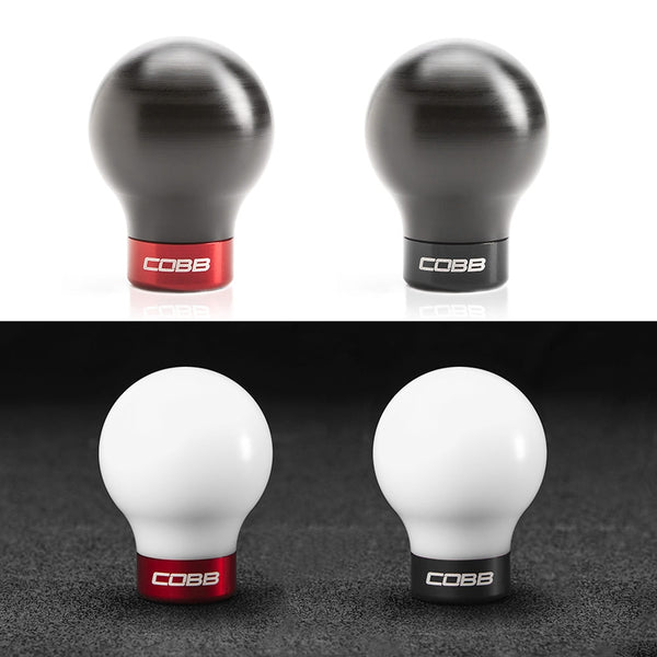 Mitsubishi COBB Knob - White Knob w/ Race Red