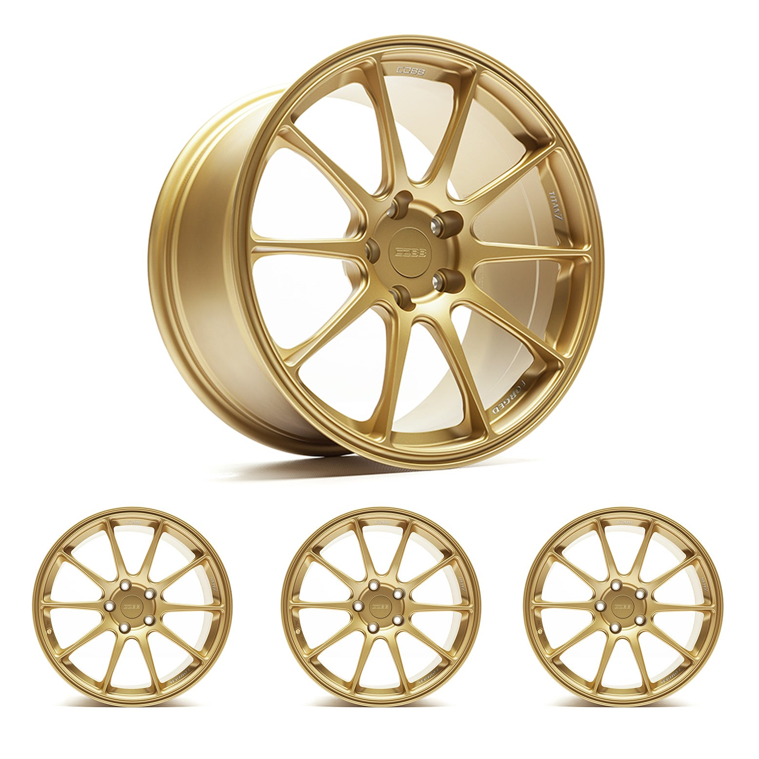 "Titan7 T-R10 COBB Edition 18"" x 9.5"" Cyber Gold Wheels"