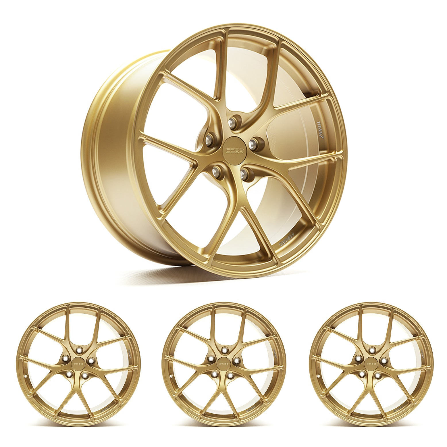 "Titan7 T-S5 COBB Edition 19"" x 9.5"" Cyber Gold Wheels"