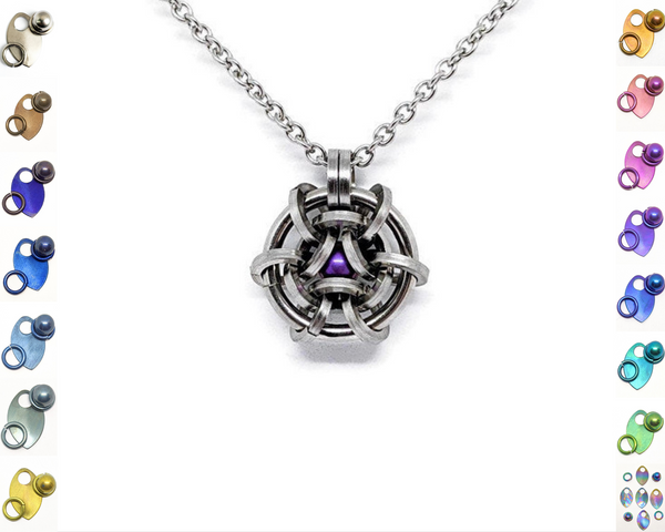 Hoodoo Hex Squared Pendant - ZenJumps Chainmaille