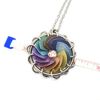 Turbine Pendant, Titanium and Steel - ZenJumps Chainmaille
