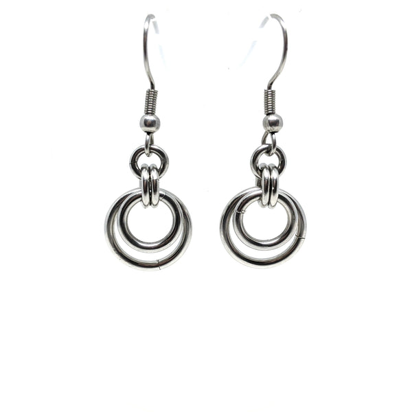 Dainty Double Circle Earrings