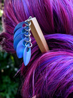 Mermaid Goddess Scalemaille Hair Sticks - ZenJumps Chainmaille
