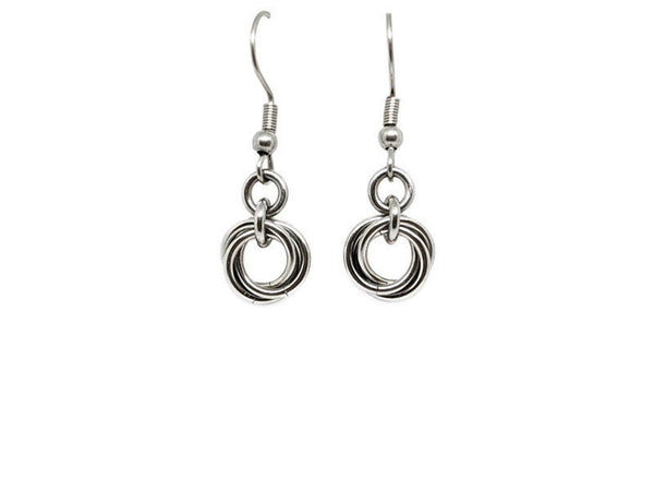 Petite Mobius Earrings - ZenJumps Chainmaille