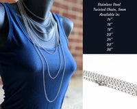 Stainless Steel Twisted Chain, 5mm - ZenJumps Chainmaille