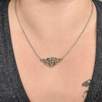 Regal Mesh Focal Necklace - ZenJumps Chainmaille