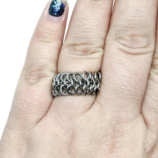 Mesh Finger Ring - ZenJumps Chainmaille