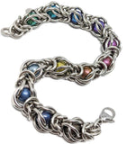 Captured Titanium Sphere Bracelet - ZenJumps Chainmaille