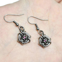 Petite Hoodoo Hex Squared Earrings - ZenJumps Chainmaille
