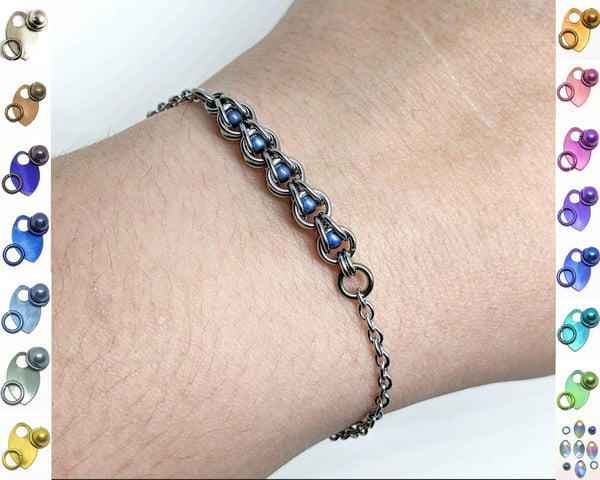 Micro Captured Sphere Focal Bracelet - ZenJumps Chainmaille