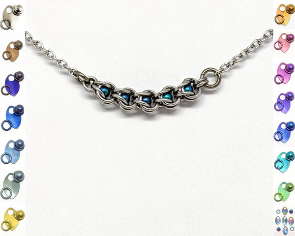 Micro Captured Sphere Focal Necklace - ZenJumps Chainmaille