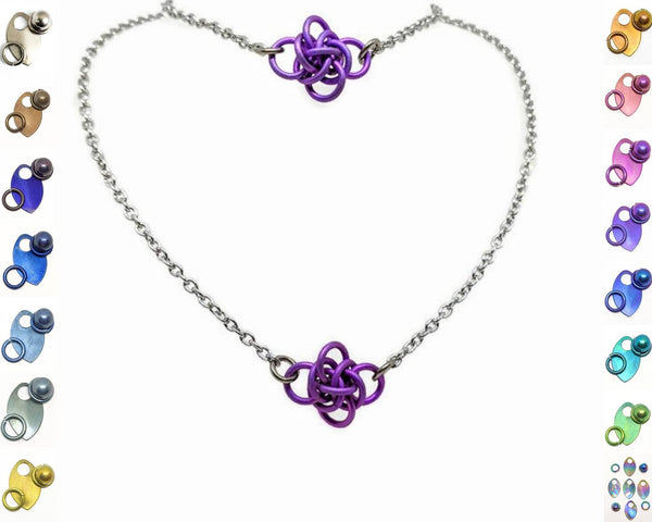 Persephone Focal Gift Set, Titanium - ZenJumps Chainmaille