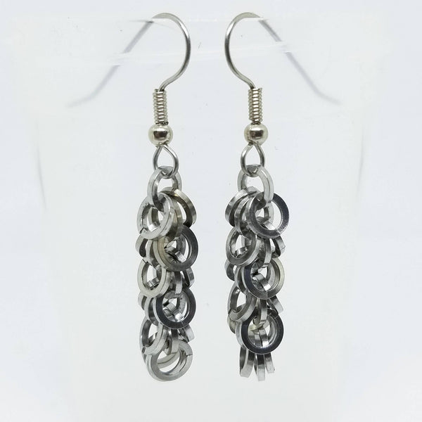 Square Shaggy Loops Earrings - ZenJumps Chainmaille