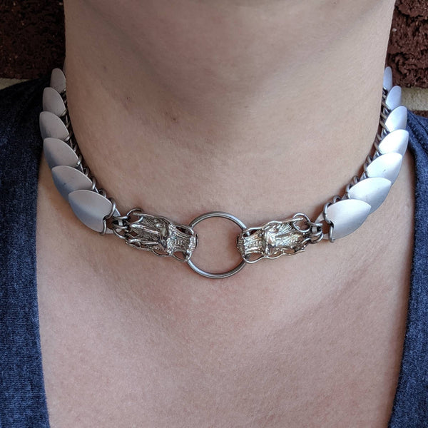 Dragon Scalemaille Choker - ZenJumps Chainmaille