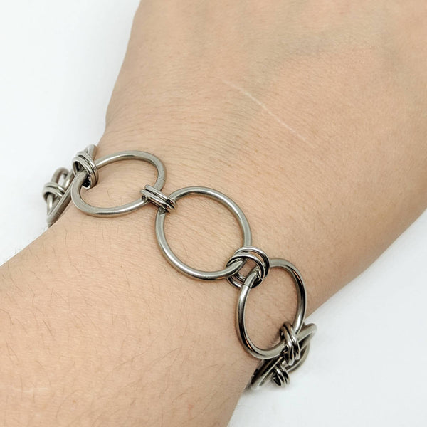 Super Chunky Simple Chain Bracelet - ZenJumps Chainmaille