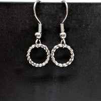 Twisted Wire Cirlce Earrings - ZenJumps Chainmaille