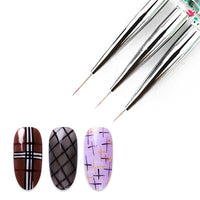 3 Piece Set of Nail Art Brushes