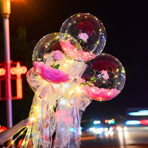 LED Luminous Balloon Rose Bouquet (DIY)