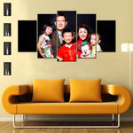 Customized Family ,Birthday ,Wedding 5 Piece Canvas Wallart - HD Quality