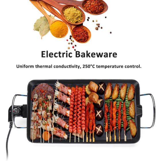 1500W Electric Grill Smokeless Nonstick Tool