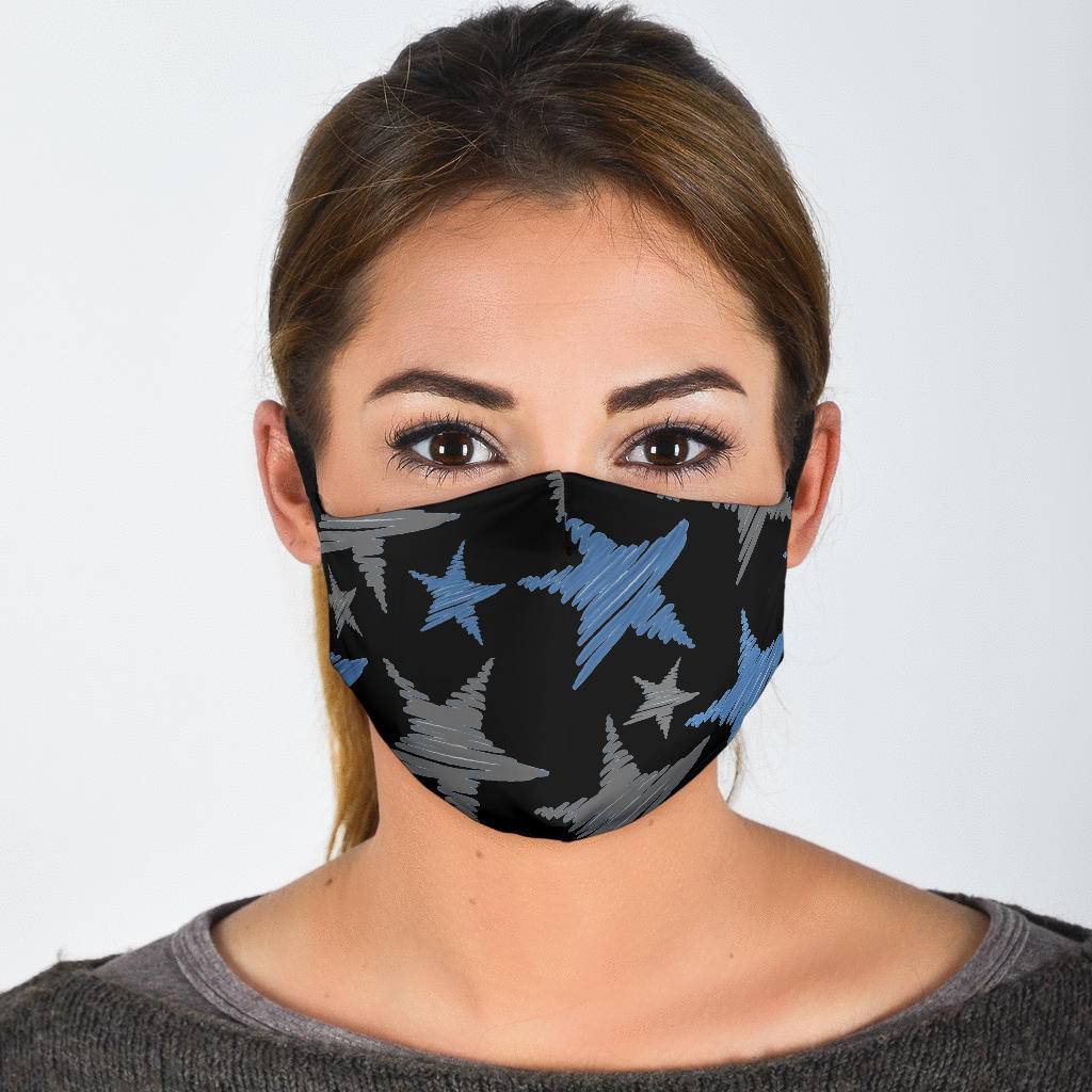Stars - Black Straps Face Mask