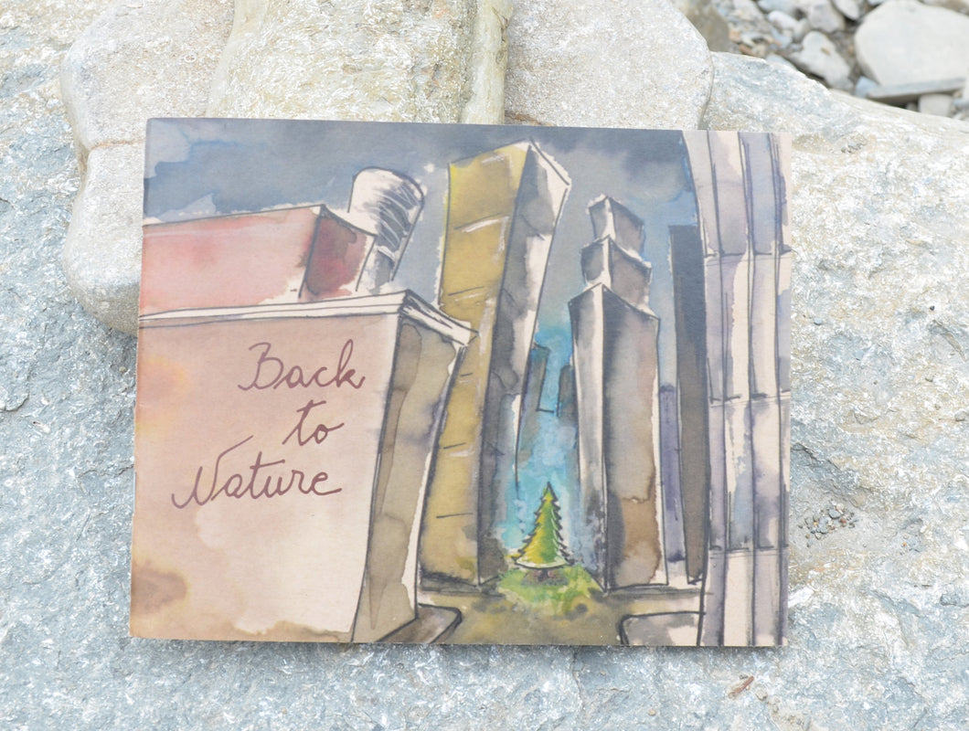 Back to Nature is a hand made environmental book