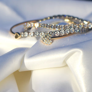 """LOVER GIRL"" Adjustable Crystal Double Heart 