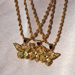 """Leilani"" Butterfly Necklace - Shop First Class"