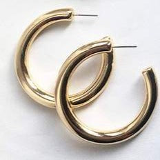 """Silah"" Chunky Hoops - Shop First Class"