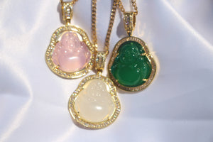 """Serenity"" Jade Buddha Necklace - Shop First Class"