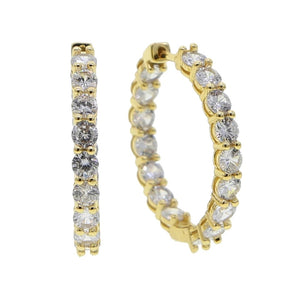 """Nicki"" Diamond Huggie Hoops - Shop First Class"