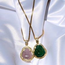 "Load image into Gallery viewer, ""Serenity"" Jade Buddha Necklace - Shop First Class"