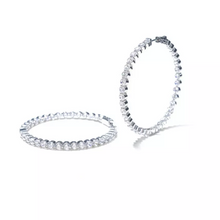 "Load image into Gallery viewer, ""Lynette"" Large Diamond Huggie Hoops - Shop First Class"