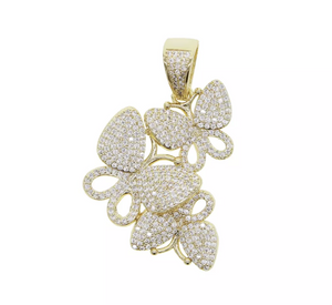 """So Beverly"" Butterfly Diamond Necklace - Shop First Class"