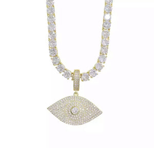 See no evil diamond necklace - Shop First Class