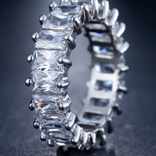 "Load image into Gallery viewer, ""Melrose"" Square Eternity Band - Shop First Class"