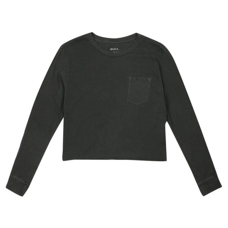 Long Sleeve Boyfriend Tee - Pirate Black