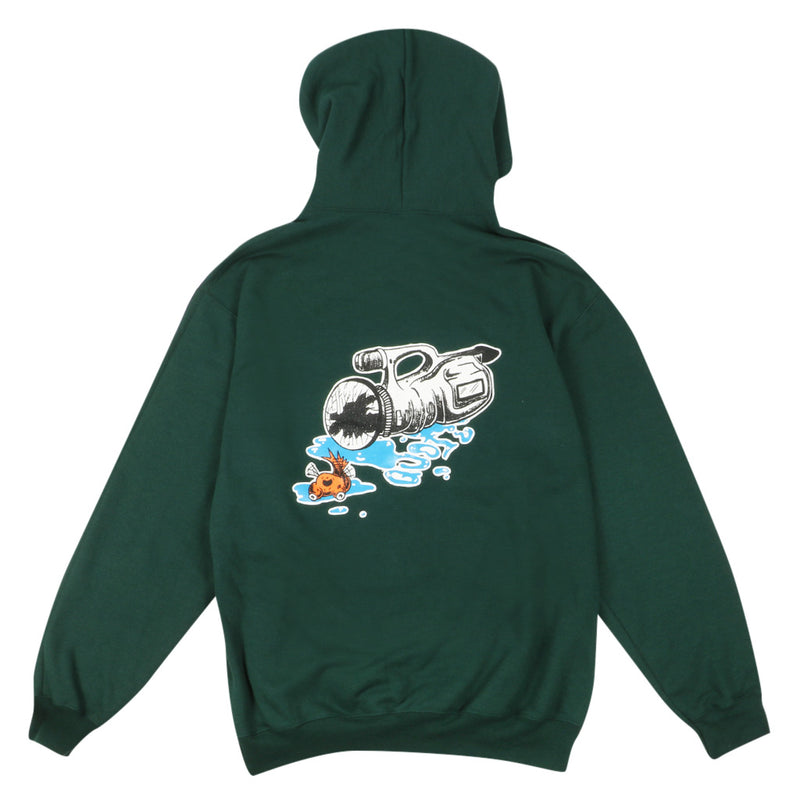 Fish Eye Hoodie - Forest Green
