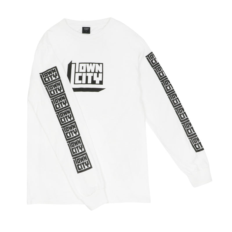 3D Block Long Sleeve - White - Town City