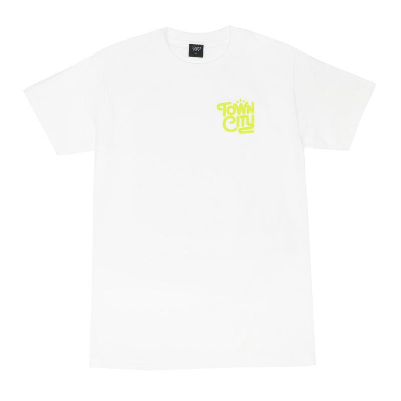 Town City Splash T-Shirt - White/Green - Town City