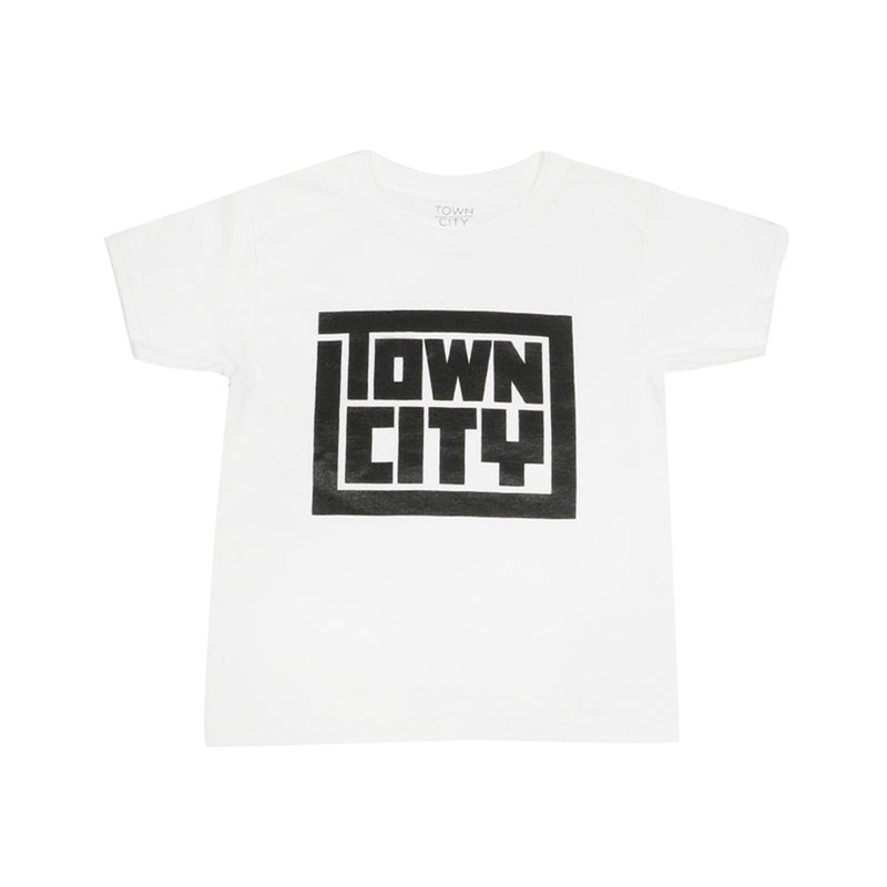 Town City Youth Block T-Shirt - White - Town City