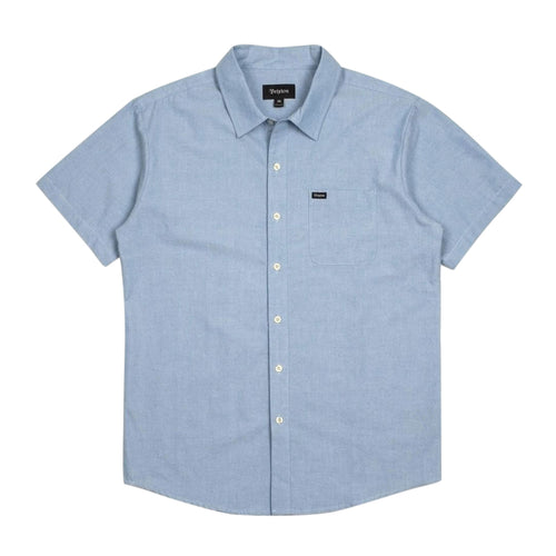 Brixton Charter Oxford S/S - Chambray - Town City