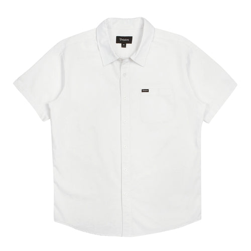 Brixton Charter Oxford S/S - Off White - Town City