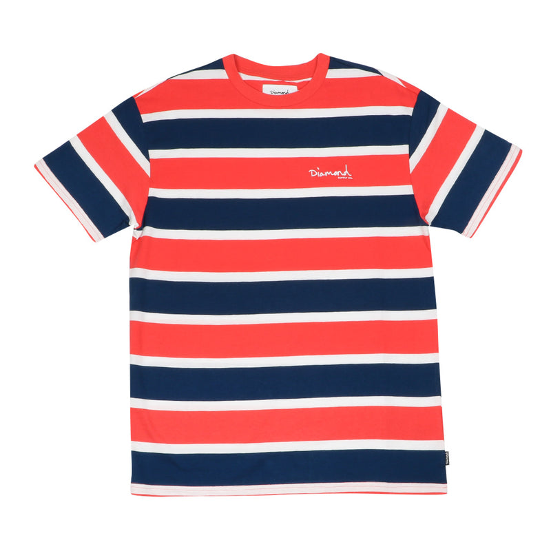 Diamond Supply Co. Mini Striped T-Shirt - Coral - Town City