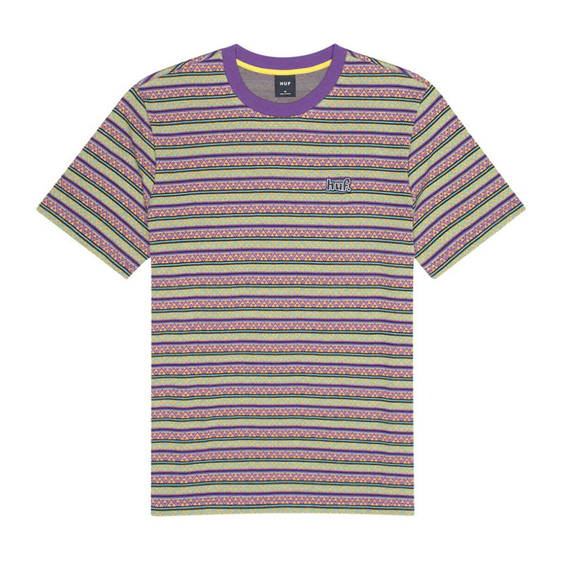 HUF Allen Knit T-Shirt - Grape - Town City