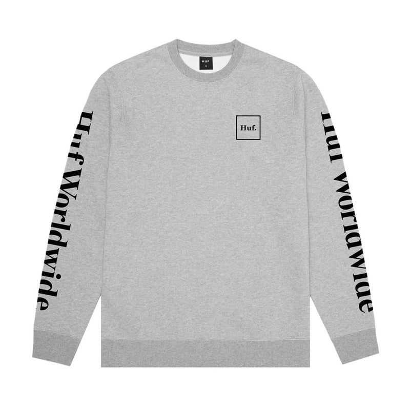 HUF Essentials Domestic Crewneck - Grey - Town City