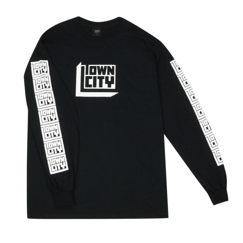 Town City 3D Block Long Sleeve - Black - Town City